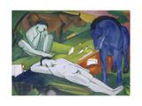 Hirten Giclee Print by Franz Marc