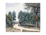 The Road of Saint-Mammes - In the morning (Le Chemin de Saint-Mammes - Le matin). 1890 Giclee Print by Alfred Sisley