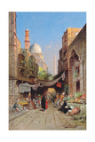 At the Bazaar Giclee Print by Richard Karlovich Zommer