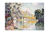 Les Andelys, Gaillard Chateau. 1921 Gicléetryck av Paul Signac