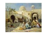 In einem arabischen Hof. 1890 Giclee Print by Eugene Pavy