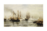 Reception of the Isere in New York Bay, June 20, 1885 Giclee Print by Edward Percy Moran