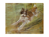 Jumping dog Schlick. 1904 Giclee Print by Franz Marc