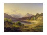 Der nördliche Teil des Gardasees. 1839 Giclee Print by Louis Gurlitt