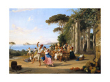 Life of the Italian People, Pozzuoli. Ca. 1823 Giclee Print by Franz Ludwig Catel