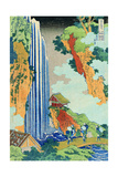 Ono Waterfall, the Kiso Highway, from the series 'A Journey to the Waterfalls of all the Provinces' Giclee Print by Katsushika Hokusai