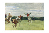 Polo player in Jenisch-Park, Hamburg 1902 - 1903 Giclee Print by Max Liebermann