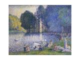 Der See im Bois de Bologne. Le Lac du Bois de Boulogne. 1899 Giclee Print by Henri Edmond Cross