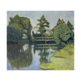 The Wümme Bridge. 1917 - 1918() Giclee Print by Otto Modersohn