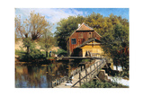 Water mill, Saeby. 1922 Giclee Print by Peder Moensted