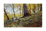 Spring in Foraan Enrum Park. 1931 Giclee Print by Peder Moensted