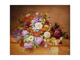 Rosen und andere Blumen auf einem Sims Giclee Print by Alexandre Couronne