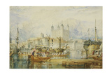 The Tower of London. About 1825 Giclee Print by Joseph Mallord William Turner