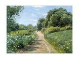 Summer walk. 1921 Giclee Print by Peder Moensted