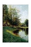 Walk in the Park. 1895 Giclee Print by Peder Moensted