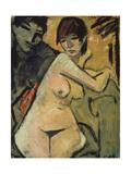 Liebespaar. Couple. Um 1920 Giclee Print by Otto Mueller
