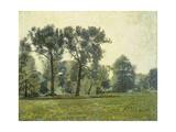 Pappeln bei Goethes Gartenhaus im Schlosspark von Weimar. Um 1885 Giclee Print by Christian Rohlfs