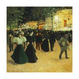 La Fête foraine, Place Pigalle. (Funfair, Place Pigalle) Giclee Print by Louis Abel-Truchet