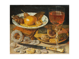 Still life with fruit, pastry and sweetmeat Giclee Print by Georg Flegel