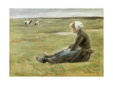 In the Field. Ca. 1890 Giclee Print by Max Liebermann