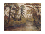 Dusk. (Autumn at the Wümme river). 1933 Giclee Print by Otto Modersohn