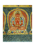 Detail of the Akshobhya buddha, from an imperial embroidered silk thanka. 15th century Giclee Print by  Chinese School