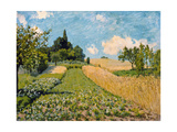 Summer landscape with cornfields. 1875 Giclee Print by Alfred Sisley