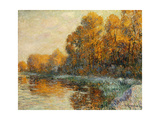 Edge of the River in Autumn. Bords de Riviere en Automne. 1912 Giclee Print by Gustave Loiseau