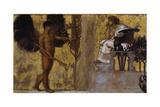 Huldigung an die Malerei. 1889 Giclee Print by Franz von Stuck