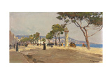 Promenade des Anglais, Nice Giclee Print by Fausto Zonaro