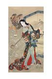 Jigoku Dayu (Hell Courtesan). After 1885 Giclee Print by Kawanabe Kyosai