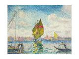 Segelboote auf dem Giudecca oder Venedig, Marine. 1903-1905 Giclee Print by Henri Edmond Cross