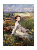 Summer in the Fields Giclee Print by Sir George Clausen