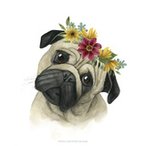 Flower Crown Pup I Poster by Grace Popp