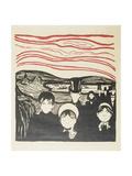 Fear. 1896 Giclee Print by Edvard Munch