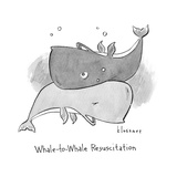 Whale to Whale Resuscitation Whale resuscitates other whale through their b Premium Giclee Print by John Klossner