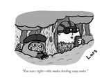 Two birders hide in a tree. - New Yorker Cartoon Premium Giclee Print by Lars Kenseth