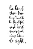 Be Kind Posters by Anna Quach