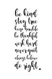Be Kind Posters av Anna Quach