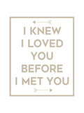 I Knew I Loved You Prints by Anna Quach