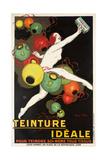 'Teinture Idéale'. Werbeplakat für 'Idéale' Textilfarben. 1927 Giclee Print by Jean D'Ylen