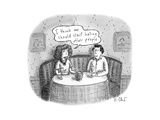 """Couple at restaurant, one says """"I think we should start hating other people."""" - New Yorker Cartoon Premium Giclee Print by Roz Chast"""