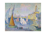 Der Hafen von St. Tropez. 1899 Gicléetryck av Paul Signac