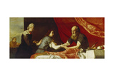 Isaac und Jakob Giclee Print by Jusepe de Ribera