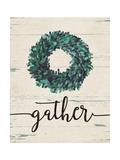 Gather Wreath Print by Jo Moulton