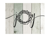 Joy Rustic Wreath II Premium Giclee Print by Jo Moulton