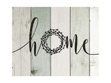 Home Rustic Wreath II Premium Giclee Print by Jo Moulton