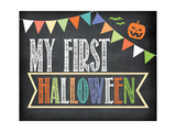First Halloween Photo Prop Posters by Jo Moulton