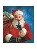 Shh Santa Prints by Mark Missman
