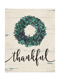 Thankful Wreath Premium Giclee Print by Jo Moulton